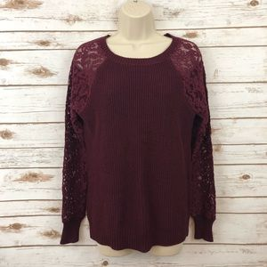 MARKET & SPRUCE Stitch Fix Lace Sleeve Sweater